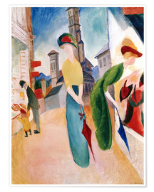 Premium poster  In front of hat shop - August Macke