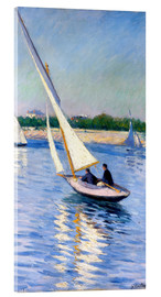Acrylic print  Sailboat on the Seine at Argenteuil - Gustave Caillebotte
