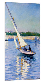 Foam board print  Sailboat on the Seine at Argenteuil - Gustave Caillebotte