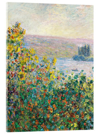 Acrylic print  Flower Beds at Vetheuil - Claude Monet