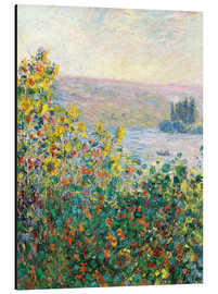 Aluminium print  Flower Beds at Vetheuil - Claude Monet