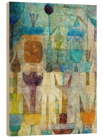 Wood print  Plants early in the morning - Paul Klee