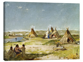 Canvas print  Camp of the Indians in Wyoming - Frank Buchser