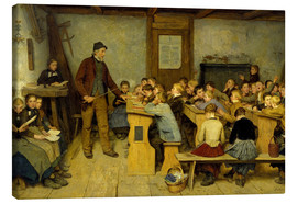 Canvas print  Village School - Albert Anker