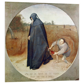 Foam board print  The Misanthrope (The perfidy of the world) - Pieter Brueghel d.Ä.