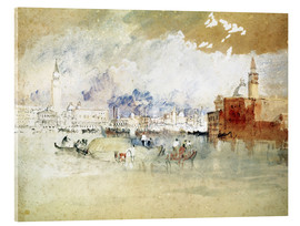 Acrylic print  Venice, seen from the lagoon - Joseph Mallord William Turner