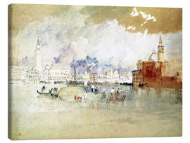 Canvas  Venice, seen from the lagoon - Joseph Mallord William Turner