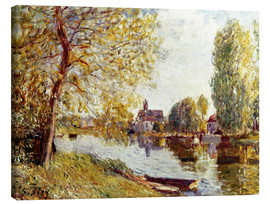 Canvas print  Spring in Moret-sur-Loing - Alfred Sisley