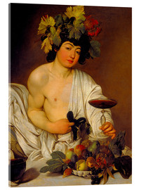 Acrylic print  The Young Bacchus - Michelangelo Merisi (Caravaggio)