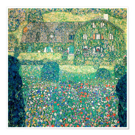 Premium poster  Country house on Attersee lake - Gustav Klimt