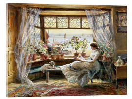 Acrylic print  Reading at the window - Charles James Lewis