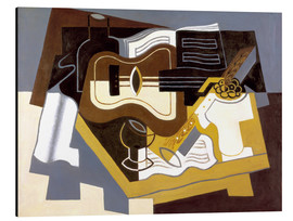 Aluminium print  Guitar and clarinet - Juan Gris
