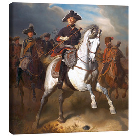 Canvas print  Frederick the Great on horseback - Wilhelm Camphausen