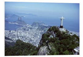 Foam board print  Christ is enthroned over Rio - Sue Cunningham