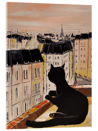 Acrylic glass  Tomcat in Paris - JIEL