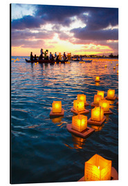 Aluminium print  Lantern swimming festival in Hawaii - Douglas Peebles