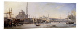 Acrylic print  The Golden Horn, Suleymaniye Mosque and Fatih Mosque - Antoine Léon Morel-Fatio