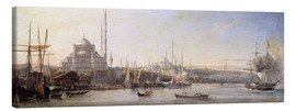 Canvas  The Golden Horn, Suleymaniye Mosque and Fatih Mosque - Antoine Léon Morel-Fatio