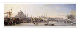 Premium poster  The Golden Horn, Suleymaniye Mosque and Fatih Mosque - Antoine Léon Morel-Fatio
