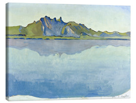 Canvas print  Lake Thun with Stockhorn chain - Ferdinand Hodler