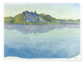 Premium poster  Lake Thun with Stockhorn chain - Ferdinand Hodler