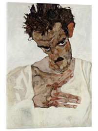 Acrylic print  Egon Schiele with his head down - Egon Schiele
