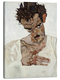Canvas print  Egon Schiele with his head down - Egon Schiele