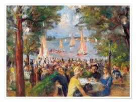 Premium poster Beer garden on the Havel river