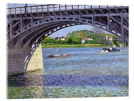 Acrylic print  Bridge at Argenteuil - Gustave Caillebotte