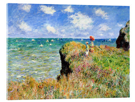 Acrylic print  Clifftop walk at Pourville - Claude Monet