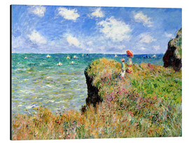 Aluminium print  Clifftop walk at Pourville - Claude Monet