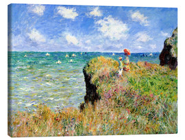 Canvas  Clifftop Walk at Pourville - Claude Monet