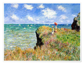 Poster  Clifftop walk at Pourville - Claude Monet