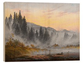 Wood print  The morning - Caspar David Friedrich
