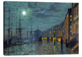 Canvas  Docks at moonlight - John Atkinson Grimshaw