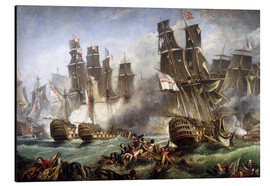 Aluminium print  The Battle of Trafalgar - William Clarkson Stanfield