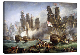 Canvas print  The Battle of Trafalgar - William Clarkson Stanfield
