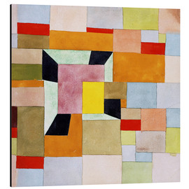 Aluminium print  Split color squares - Paul Klee