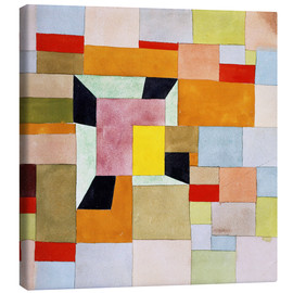 Canvas print  Split color squares - Paul Klee