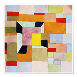 Premium poster  Split color squares - Paul Klee