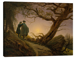 Canvas print  Two men contemplating the moon - Caspar David Friedrich