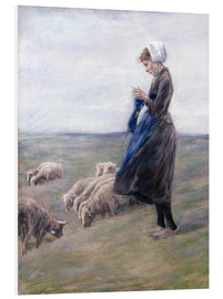 Foam board print  Shepherdess - Max Liebermann