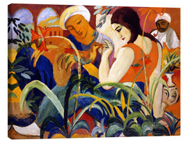 Canvas  Oriental women - August Macke