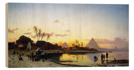 Wood print  Sonnenuntergang am Nil, Kairo. - Hermann David Salomon Corrodi