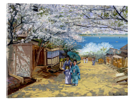 Acrylic print  Cherryblooms in sunshine - Theodore Wores