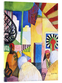 Acrylic print  In the Bazar - August Macke