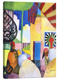 Canvas print  In the Bazar - August Macke