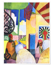 Premium poster  In the Bazar - August Macke