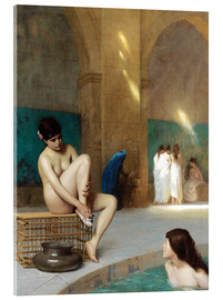 Acrylic print  Women at the Roman baths - Jean Leon Gerome