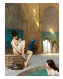 Premium poster  Women at the Roman baths - Jean Leon Gerome